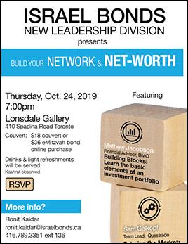 RSVP for Israel Bonds New Leadership Real Estate Panel June 18 2019 in Montreal