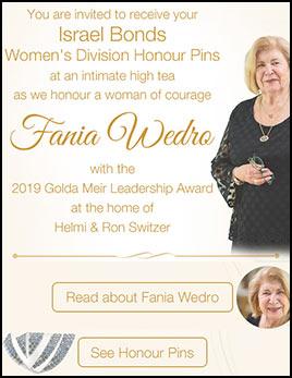 Women's Division Golda Circle — Fania Wedro
