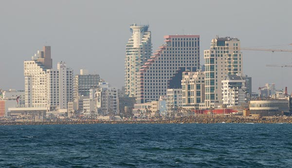 Tel Aviv beach skyline as seen from Jaffa. (Photo credit: Gili Yaari / Flash90)