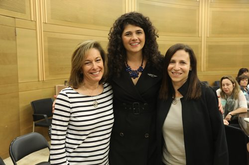 From right, Shira Lewis, Chair of Israel Bonds National Women's Division, pictured next to MK Sharren Haskel and Laura Orzy, Associate Chair, Israel Bonds Women's Division