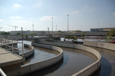 The Shafdan wastewater treatment plant provides 70 percent of the Negev's irrigation needs and 10 percent of the water needs of the entire country (Photo: James S. Galfund)