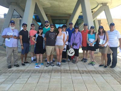 Members of the Israel Bonds staff delegation pay a visit to Israel's iconic National Water Carrier, the nation's most ambitious infrastructure project (Photo: James S. Galfund)