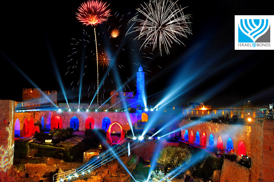 Spectacular Independence Day Celebration in Jerusalem, Israel