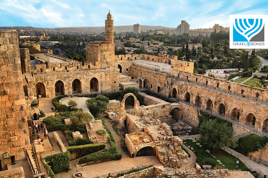 Tower of David in beautiful Jerusalem