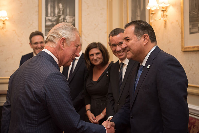 Israel Maimon with Prince Charles