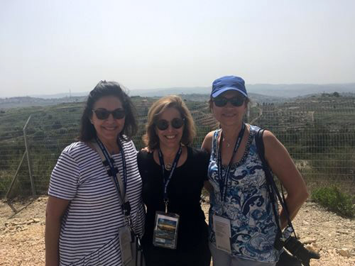 From left, Israel Bonds Canada-Israel Securities, Limited, Director & CEO Raquel Benzacar‑Savatti, Israel Bonds' Women's Division Chair Laura Orzy and Israel Bonds' Women's Division Toronto Chair Brenlee Gurvey-Gales in Israel during Israel's 70th anniversary (Photo courtesy: Laura Orzy)