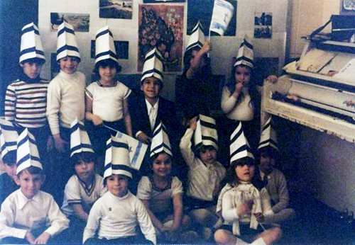 Shira Lewis (back row, third from left) demonstrates her passion for Israel at an early age  (Photo courtesy Shira Lewis)