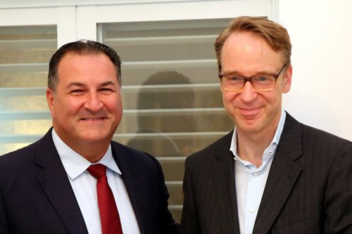 Israel Bonds President & CEO Israel Maimon with Dr. Jens Weidmann