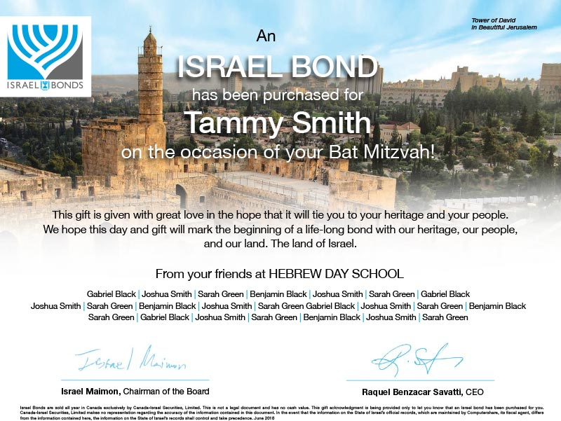 IsraelBonds_BarNatMitzvahCertificate_Sample