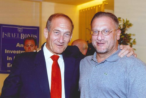 Sharing a moment with Prime Minister Ehud Olmert