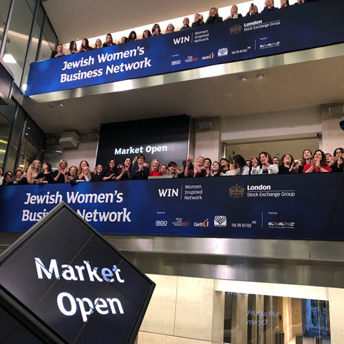 Hundreds of women attended the prestigious market opening along with other Bonds leaders including Bonds President & CEO Israel Maimon and Women's Division Chair Laura Orzy (Photo courtesy of Blake Ezra)