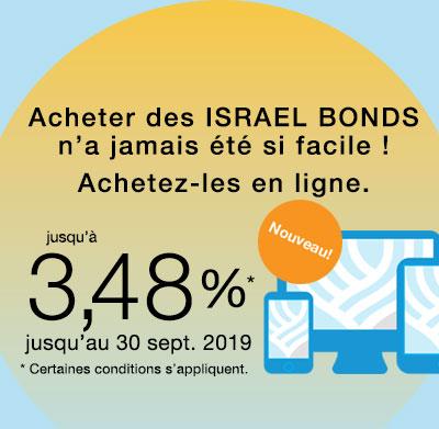 Israel Bonds Top Rate 3.48% Sept. 15-30, 2019