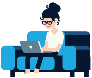 Ecommerce - woman on couch