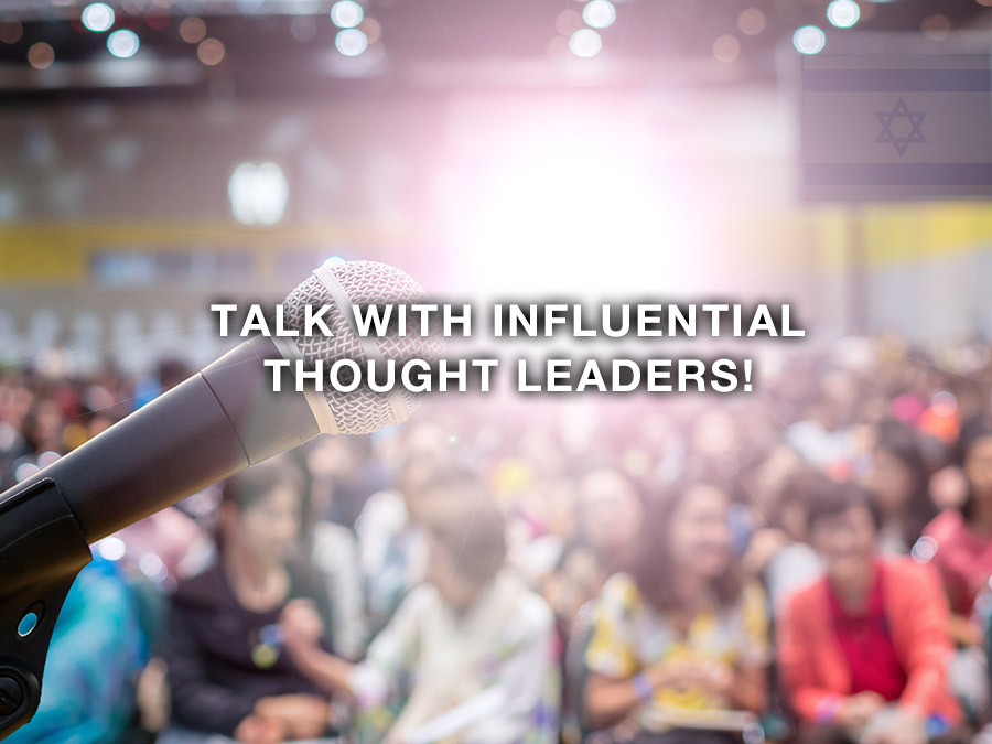 Talk with influential thought leaders!