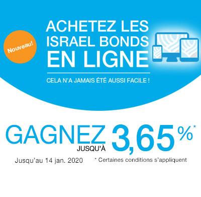 Israel Bonds Meilleur Taux 1-14 janvier 2020