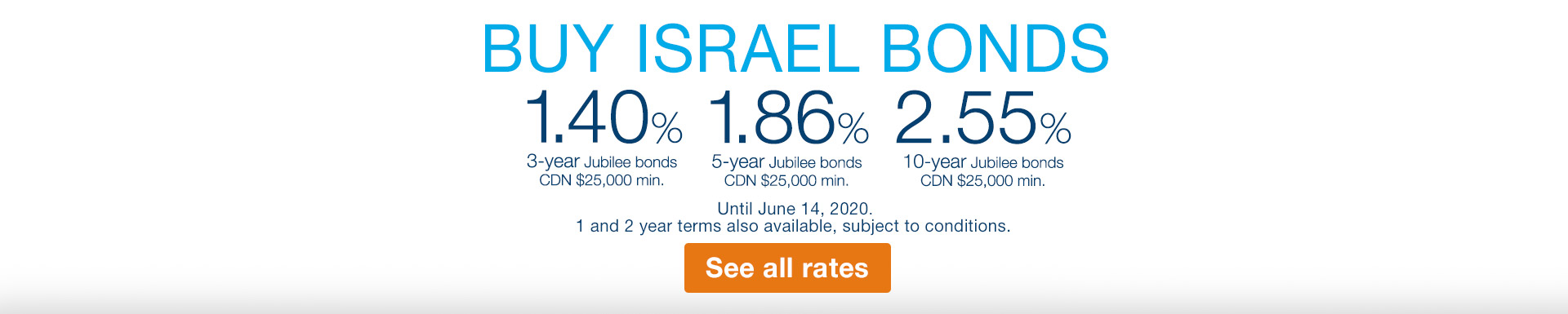 Israel Bonds Top Rate 4.63% until November 30 2018
