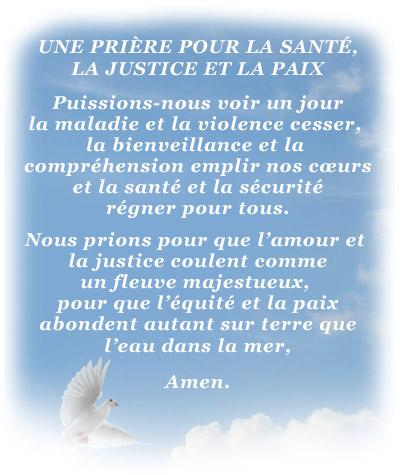 Prière pour la santé