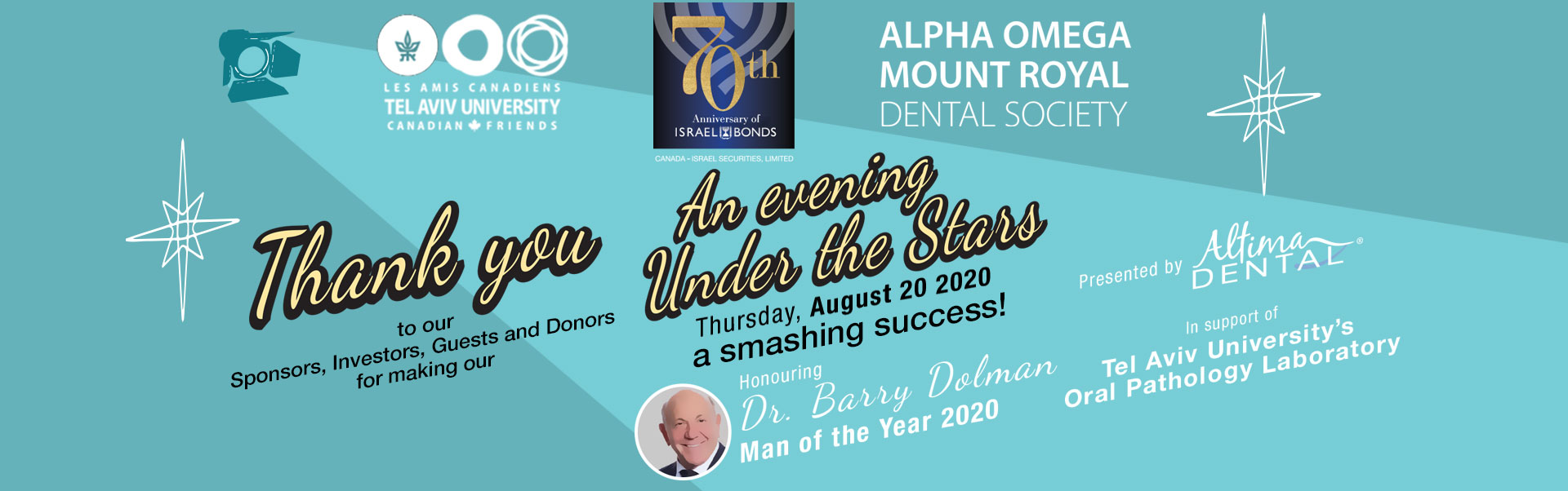 An evening Under the Stars Honouring Dr. Barry Dolman