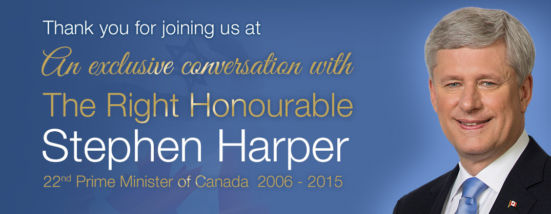 Stephen Harper Post event header