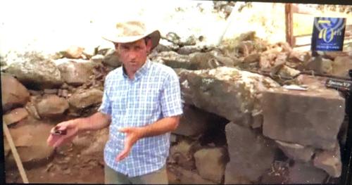 Archaeologist Achia Kohn-Tavor takes attendees through a virtual excavation of Korazim National Park near the Golan Heights.
