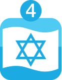 What is an Israel bond icon blue 4